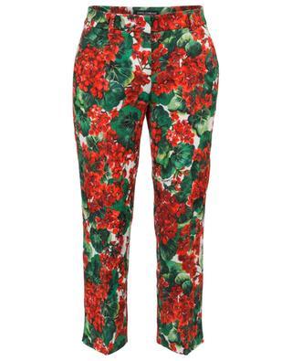 Pantalon raccourci en brocard fleuri Portofino Kate DOLCE & GABBANA