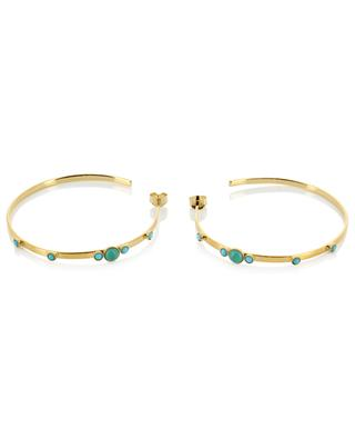 Maya PM gold earrings with mother of pearl CAROLINE NAJMAN