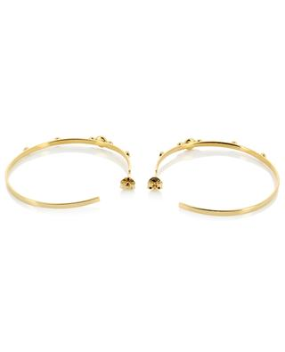 Maya PM gold earrings with mother of pearl CAROLINE NAJMAN