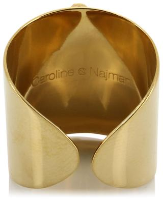 Maya S adjustable golden ring with turquoise CAROLINE NAJMAN