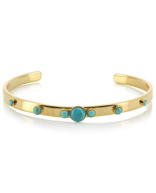 Maya gold plated bangle with amazonites CAROLINE NAJMAN