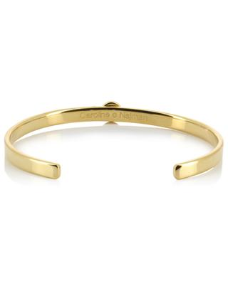 Maya gold plated bangle with rhodochrosites CAROLINE NAJMAN