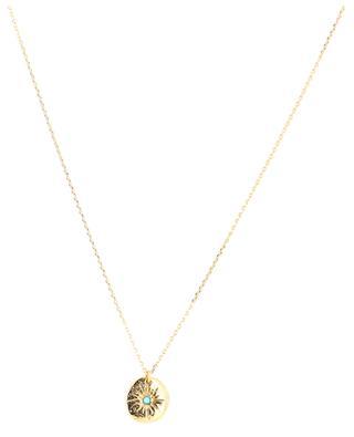 Leonis gold necklace with turquoise CAROLINE NAJMAN