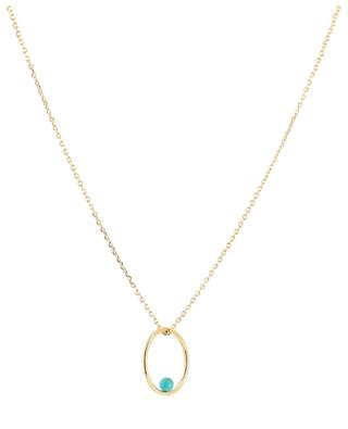 Neo gold necklace with turquoise CAROLINE NAJMAN