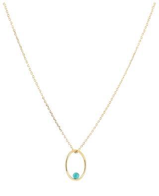 Neo gold necklace with turquoise CAROLINE NAJMAN