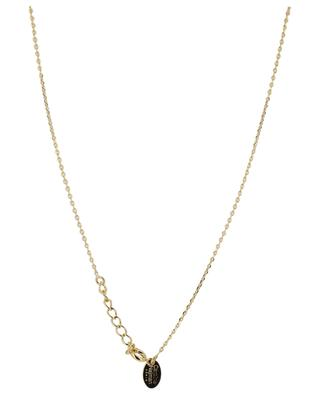 Neo golden necklace with rhodochrosite CAROLINE NAJMAN