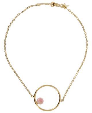 Neo golden braceletm with rhodochrosite CAROLINE NAJMAN