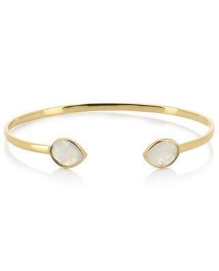 Jonc en métal doré et pierres de lune Victoria CAROLINE NAJMAN
