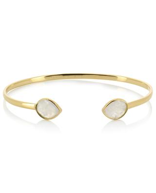 Victoria gold plated bangle with moonstones CAROLINE NAJMAN