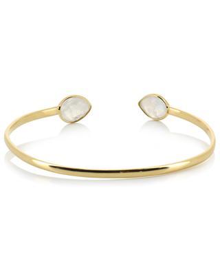 Victoria gold plated bangle with moonstones CAROLINE NAJMAN