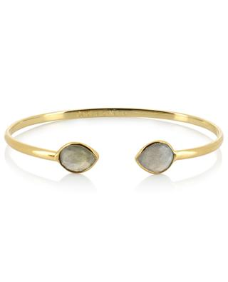 Victoria gold plated bangle with labradorites CAROLINE NAJMAN