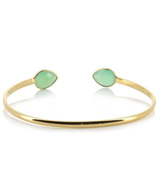 Victoria gold plated bangle with Chrysoprase stones CAROLINE NAJMAN