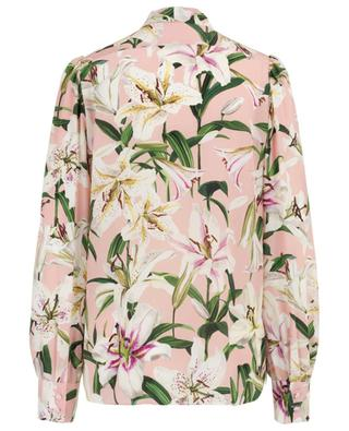 Lily floral pussy bow shirt DOLCE & GABBANA