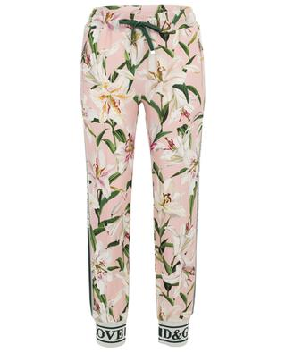 Lily-print jogging trousers DOLCE & GABBANA