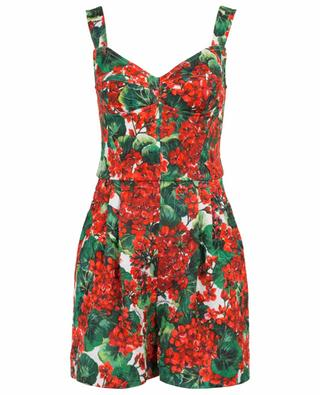 Portofino floral playsuirt with bustier DOLCE & GABBANA