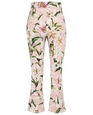 Lily flared cropped cady trousers DOLCE & GABBANA