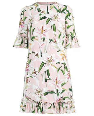 Lily ruffled A-line floral mini dress DOLCE & GABBANA