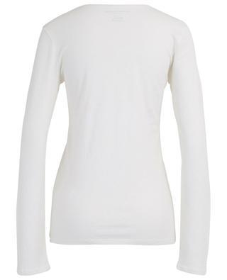 Langarm-T-Shirt aus Baumwolle und Kaschmir MAJESTIC FILATURES