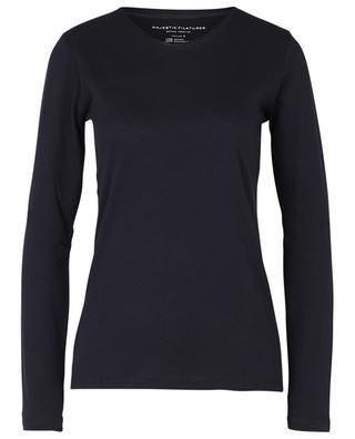 Langarm-T-Shirt aus Baumwolle und Kaschmir Carly MAJESTIC FILATURES