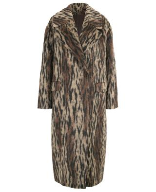 Cathy long coat with animal print TAGLIATORE