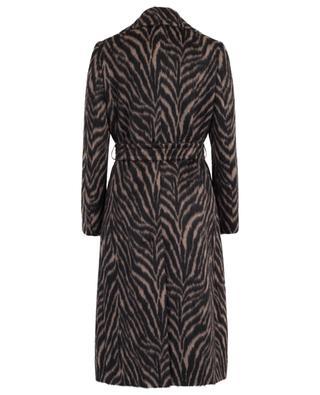 Mantel aus Alpaka und Schurwolle mit Zebramotiv TAGLIATORE