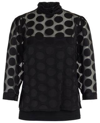 Semi-sheer blouse with polka dot pattern AKRIS PUNTO