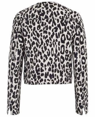 Veste courte à imprimé léopard AKRIS PUNTO