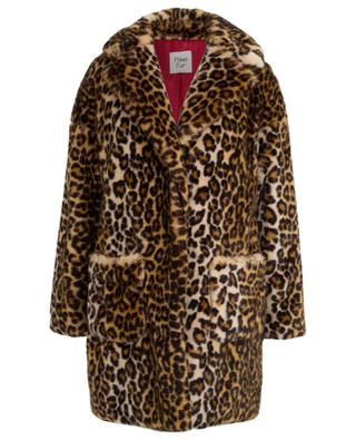 Leopard print faux fur coat FAKE FUR