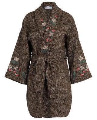 Embroidered herringbone coat RED VALENTINO