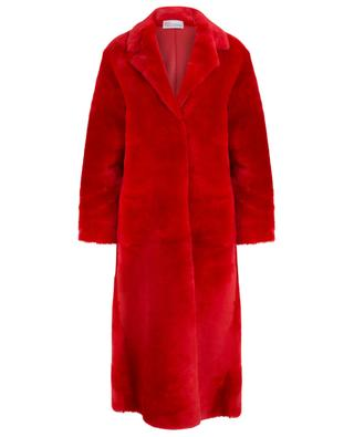 Red lamb shearling coat RED VALENTINO