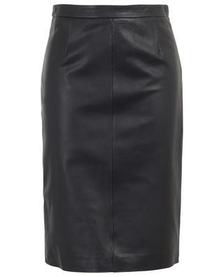 Pencil skirt in matt leather RED VALENTINO