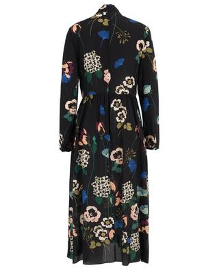Pansy floral silk dress with embroideries RED VALENTINO