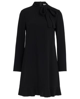 Straight crepe dress with necktie RED VALENTINO