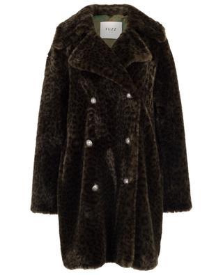 Leopard Cold Soldier oversize faux fur coat FUZZ NOT FUR