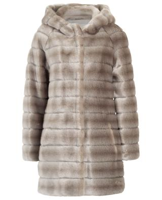 Oh My Deer hooded faux fur coat / FAZ / NOT FUR