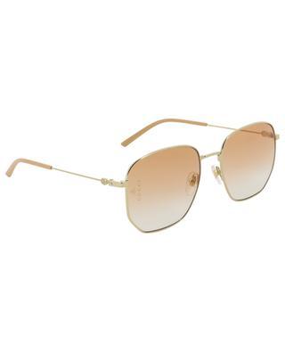 Sonnenbrille aus goldenem Metall GUCCI