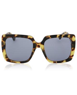 Strass adorned square tortoise effect sunglasses GUCCI