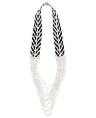 Warrior Chevron woven bead necklace SIDAI DESIGNS