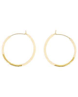 Endito small beaded hoop earrings SIDAI DESIGNS