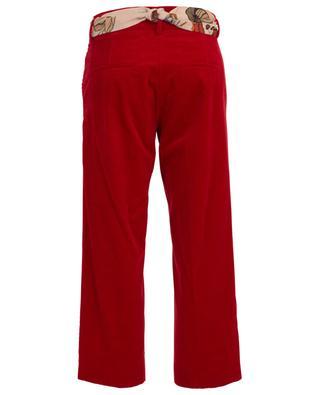 Pantalon raccourci en velours côtelé Claire CAMBIO