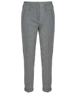 Verkürzte Hose in Tweed-Optik mit Streifen Kilia CAMBIO