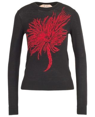 Feiner schmaler Pullover Anemone Intarsia N°21