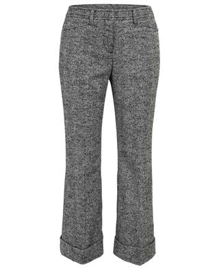 Flared cropped chevron tweed trousers N°21