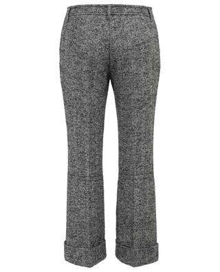 Pantalon évasé raccourci en tweed à chevrons N°21