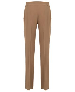 Flowy trousers with satin side bands N°21