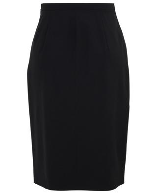 Anemone embroidered slit pencil skirt N°21