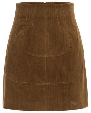 Mini-jupe en velours côtelé N°21