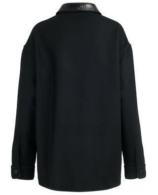 Veste légère avec détail cuir verni synthétique N°21
