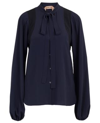 Pussy bow silk blend blouse N°21