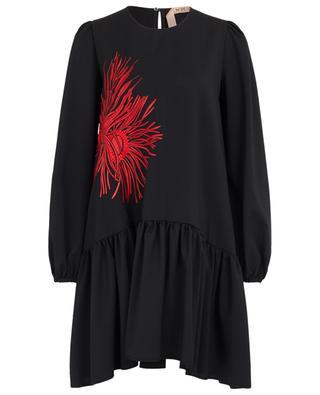 Robe trapèze à basque brodée Anemone N°21